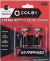 Colby Emergency tire valve, 2 pack