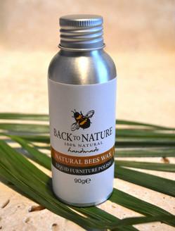Natural beeswax liquid furniture polish