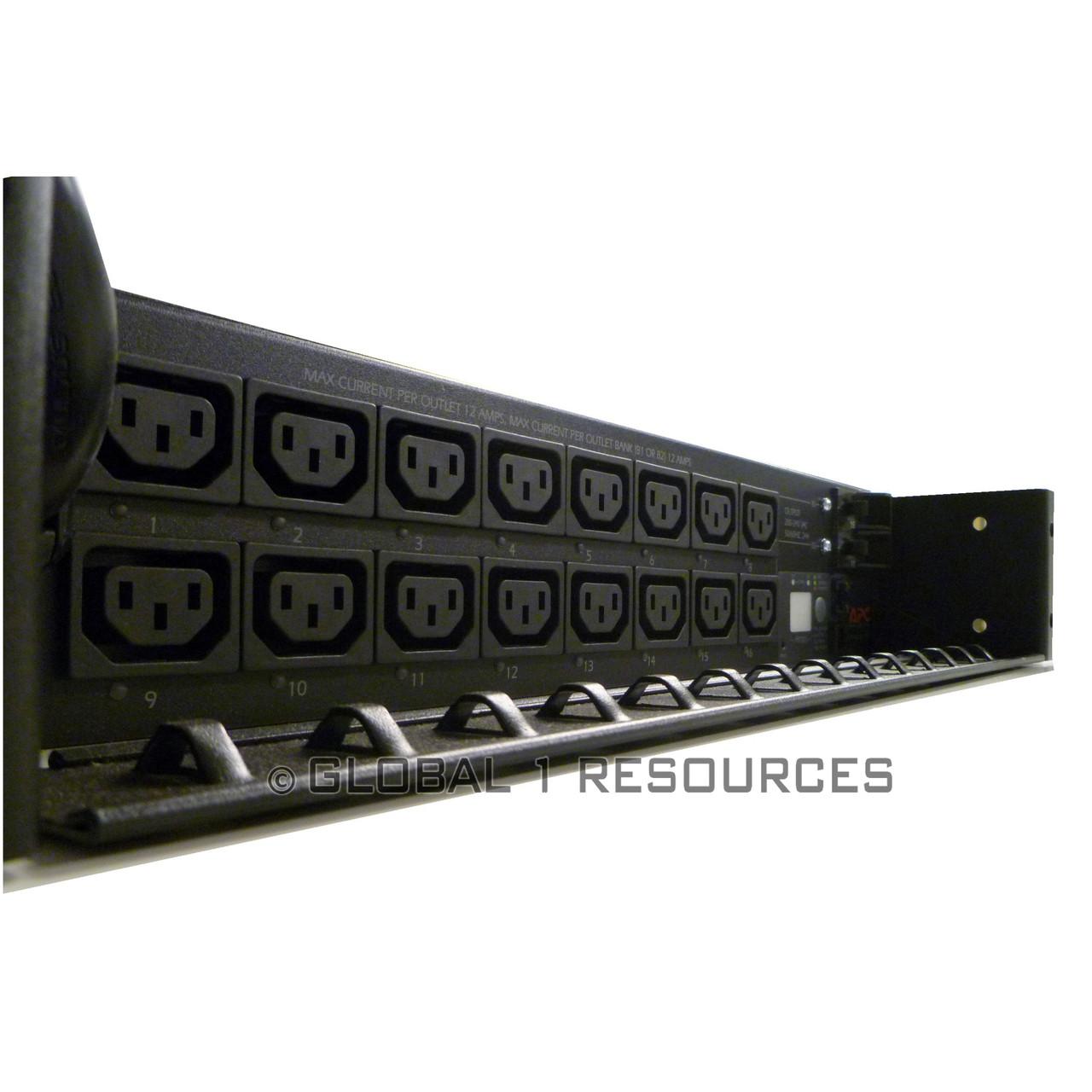 Apc Ap7911 30amp Switched Rack Mount Pdu Server Ar3100 Netshelter Sx 42u Enclosure Loading Zoom