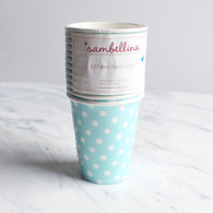 Sambellina Blue Polka Dot Cups - Pack of 12
