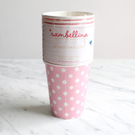 Sambellina Pink Polka Dot Cups - Pack of 12