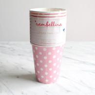 Sambellina Pink Polka Dot Cups - Pack of 12