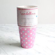 Sambellina Pink Multi Dot Cups - Pack of 12