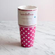 Sambellina Raspberry Polka Dot Cups - Pack of 12