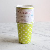 Sambellina Lime Polka Dot Cups - Pack of 12