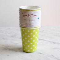 Sambellina Lime Polka Dot Cups - Pack of 12