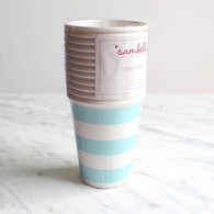 Sambellina Blue Stripe Cups - Pack of 12