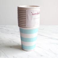 Sambellina Blue Stripe Cups - Pack of 12
