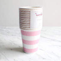 Sambellina Pink Stripe Cups - Pack of 12