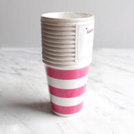 Sambellina Raspberry Stripe Cups - Pack of 12