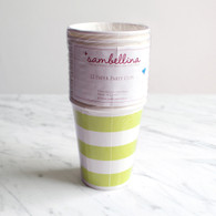 Sambellina Lime Stripe Cups - Pack of 12