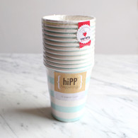 hiPP Duck Egg Blue Stripe Cups - Pack of 12