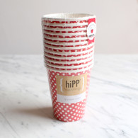 hiPP Red Polka Dot Cups - Pack of 12