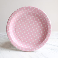 Sambellina Pink Polka Dot Plates - Pack of 12