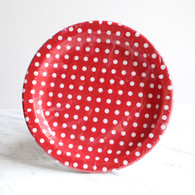 Sambellina Red Polka Dot Plates - Pack of 12