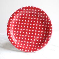 Sambellina Red Polka Dot Plates - Pack of 12