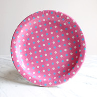 Sambellina Pink Multi Dot Plates - Pack of 12