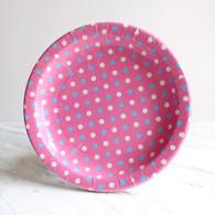 Sambellina Pink Multi Dot Plates - Pack of 12