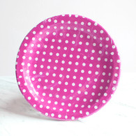 Sambellina Raspberry Dot Plates - Pack of 12