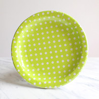 Sambellina Lime Polka Dot Plates - Pack of 12
