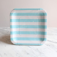 Sambellina Blue Stripe Square Plates - Pack of 12