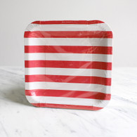 Sambellina Red Stripe Square Plates - Pack of 12