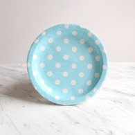 Sambellina Blue with White Dots Cake Plates - Pack of 12
