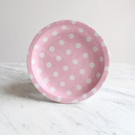 Sambellina Pink with White Dots Cake Plates - Pack of 12
