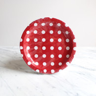 Sambellina Red with White Dots Cake Plates - Pack of 12