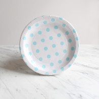 Sambellina White with Blue Dots Cake Plates - Pack of 12