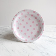 Sambellina White with Pink Dots Cake Plates - Pack of 12