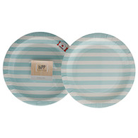 hiPP Duck Egg Blue Stripe Plates - Pack of 12