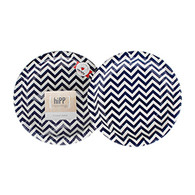 hiPP Navy Chevron Cake Plates - Pack of 12