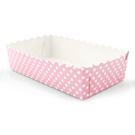 Pink Polka Dot Food Trays - Pack of 12