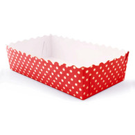 Red Polka Dot Food Trays - Pack of 12