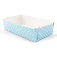 Blue Polka Dot Food Trays - Pack of 12