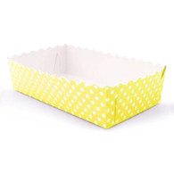 Yellow Polka Dot Food Trays - Pack of 12