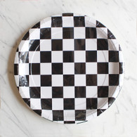 Black & White Checker Plates - Pack of 8