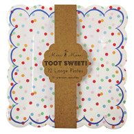 Meri Meri Toot Sweet Spotty Plates - Pack of 12