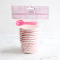 Pink n Mix 2 Design Bowls and Spoons - Pack of 8