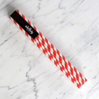 Extra Tall Strawberry Red Stripe Straws - Pack of 25