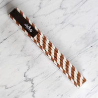 Extra Tall Chocolate Brown Stripe Straws - Pack of 25