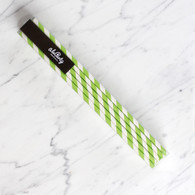 Extra Tall Lime Green Stripe Straws - Pack of 25