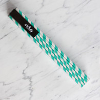 Extra Tall Mint Green Stripe Straws - Pack of 25