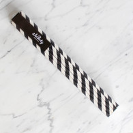 Extra Tall Black Stripe Straws - Pack of 25