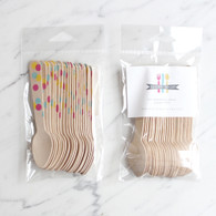 Sucre Shop Confetti Dots Ice Cream Spoons - Pack of 20