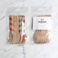 Sucre Shop Rainbow Stripe Ice Cream Spoons - Pack of 20