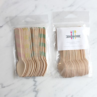 Sucre Shop Vintage Stripe Ice Cream Spoons - Pack of 20