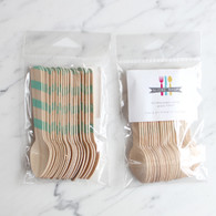 Sucre Shop Mint Stripe Ice Cream Spoons - Pack of 20