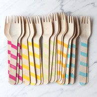 Sucre Shop Candy Stripe Forks - Pack of 20